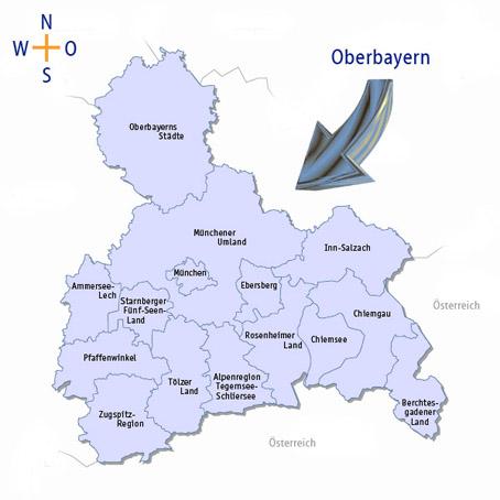 Berchtesgadener Land Karte.Regionalservice Oberbayern Berchtesgadener Land Chiemgau Chiemsee